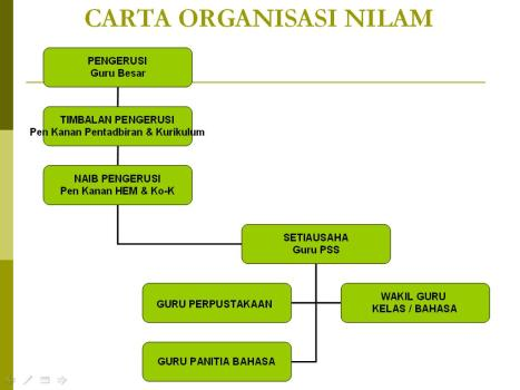 Carta Organisasi Program NILAM